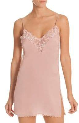 In Bloom Blush Lace Trim Chemise