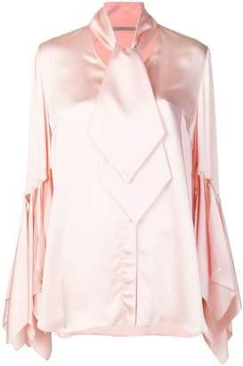 Christopher Kane rag sleeve satin blouse