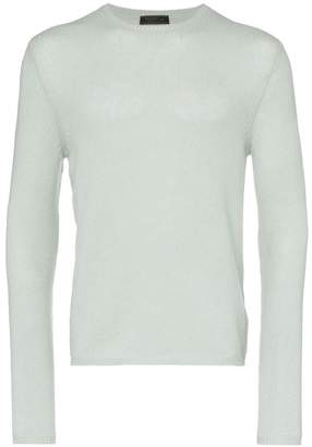 Prada knitted slim fit cashmere jumper