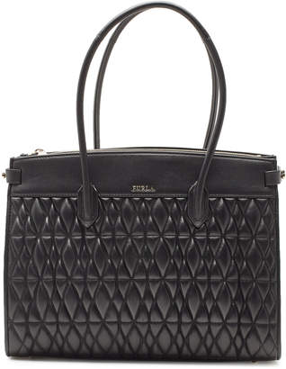 Furla Pin Cometa M Quilted Leather Shopper