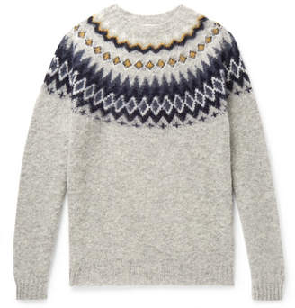 Norse Projects Birnir Fair Isle Brushed-Wool Sweater