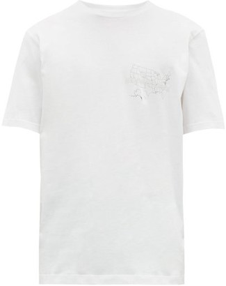 Helmut Lang Laws Logo Print Cotton T Shirt - Mens - White