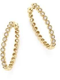 Bloomingdale's Diamond Milgrain Bezel Oval Hoop Earrings in 14K Yellow Gold, .50 ct. t.w. - 100% Exclusive