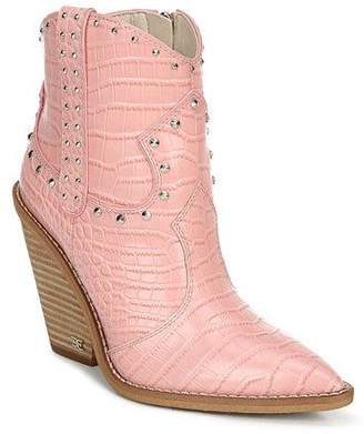 Sam Edelman Iris Crocodile-Embossed Booties