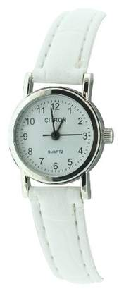 Citron Ladies Watch with White Dial and White Strap
