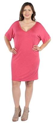 24/7 Comfort Apparel Ashton Plus Size Mini Dress