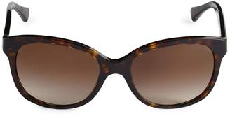 Ralph Lauren 55MM Tortoiseshell Cat Eye Sunglasses