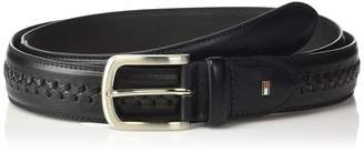Tommy Hilfiger Men's Double-Stitched Leather Belt