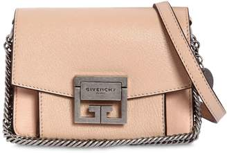 Givenchy Mini Gv3 Grained Leather Shoulder Bag