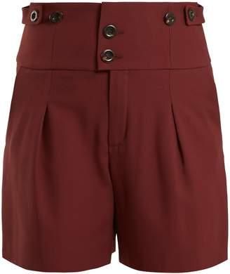 Chloé High-waist double-button shorts