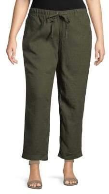 Lord & Taylor Plus Linen Pants