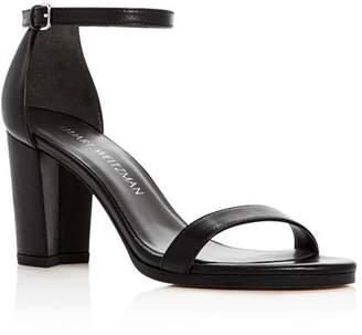 dc3f44dc990 Stuart Weitzman Black Leather Straps Women s Sandals - ShopStyle