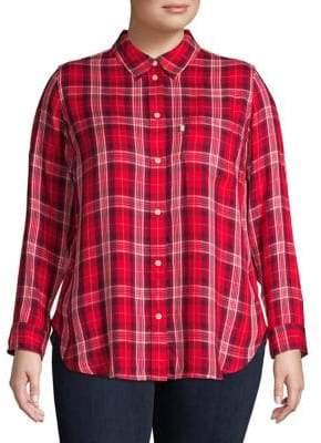 Levi's Plus Plaid Button-Down Shirt