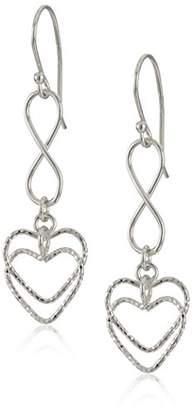 Sterling Infinity Mobile Heart Drop Earrings