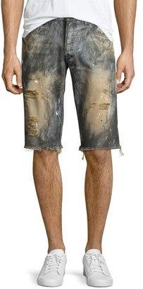 PRPS Beach Day Cutoff Denim Shorts, Indigo $228 thestylecure.com