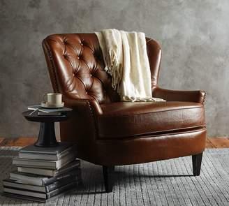Pottery Barn Cardiff Leather Armchair