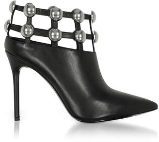 Alexander Wang Tina Black Leather Cage Booties