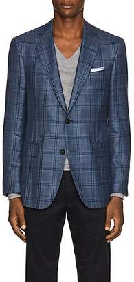 Pal Zileri MEN'S CHECKED WOOL-BLEND TWO-BUTTON SPORTCOAT - BLUE SIZE 38 R