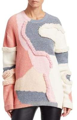 Peter Pilotto Heavy Knit Patchwork Pullover