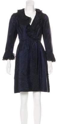 Anna Sui Ruffle Wrap Dress