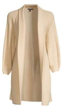 Eileen Fisher Ribbed Merino Wool Duster Cardigan