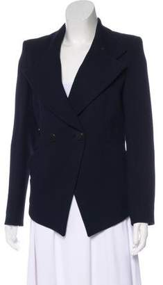 Balenciaga Double-Breasted High-Low Blazer