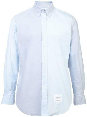 Thom Browne two-tone button down shirt