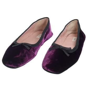 Prada Purple Velvet Ballet flats