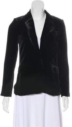 Joie Velvet Silk-Blend Blazer