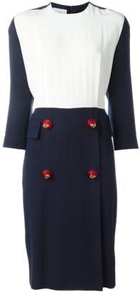 Gianfranco Ferre Pre-Owned contrasting panel midi dress
