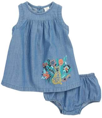 Tucker + Tate Embroidered Chambray Dress (Baby Girls)