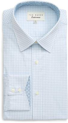 49d0a588aa14bc Ted Baker Grahite Slim Fit Houndstooth Dress Shirt
