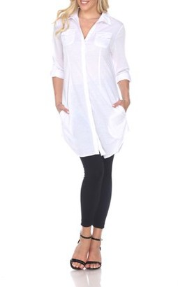 White Mark Women's Lakota Stretchy Tunic