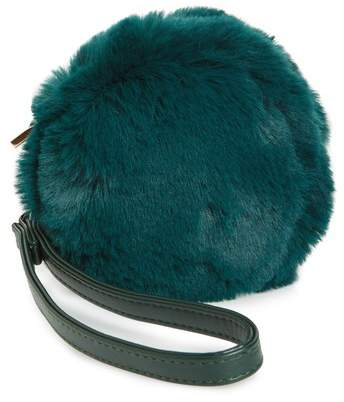 Evelyn K Macaron Faux Fur Wristlet
