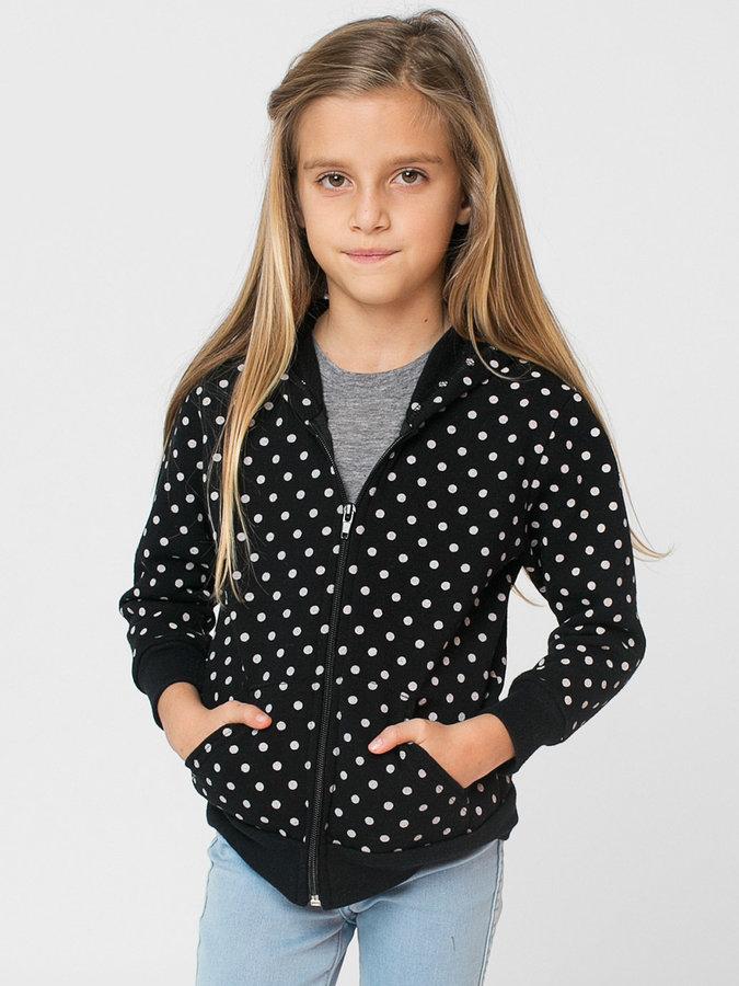 American Apparel Kids Polka Dot Fleece Zip Hoodie