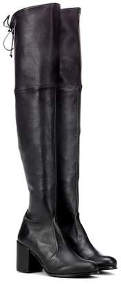 Stuart Weitzman Tieland leather over-the-knee boots