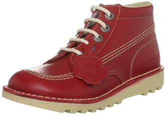 Kickers KICK HI Youth Leather Boots Red/Natural 36