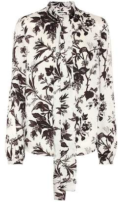 McQ Printed pussy-bow blouse