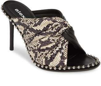 Alexander Wang Lily Genuine Snakeskin & Lambskin Leather Sandal
