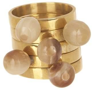 Soko Sawa Nestling Round Horn Top Ring Set