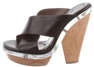 Marni Leather Slide Sandals