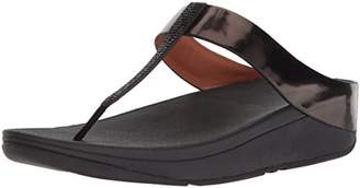 FitFlop Women's FINO Crystal Toe-Thong Sandals Patent