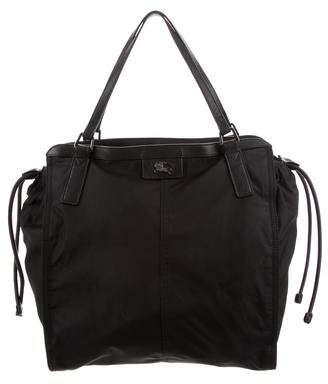 Burberry Nylon & Leather Buckleigh Tote