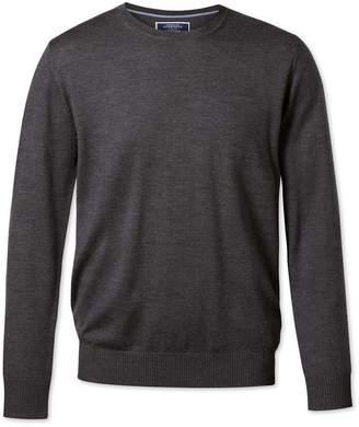 Charles Tyrwhitt Charcoal Merino Wool Crew Neck Sweater Size XXL