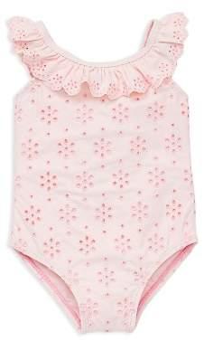 Little Me Girls' Eyelet Ruffled Swimsuit - Baby