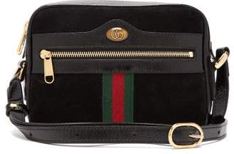 Gucci Ophidia Black Suede Cross Body Mini Bag - Womens - Black