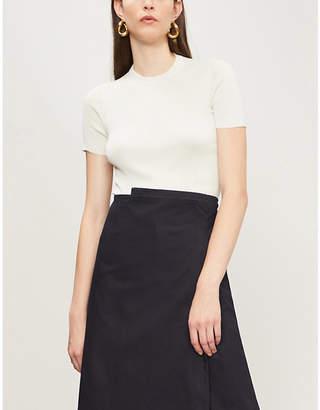 CASASOLA Short-sleeved silk-knit top