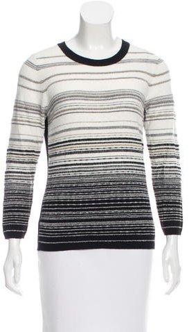 Diane von Furstenberg Striped Metallic Sweater