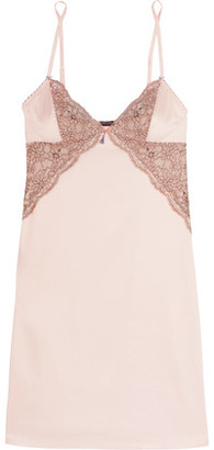 Heidi Klum Intimates Venetian Embrace Corded Lace And Satin Chemise