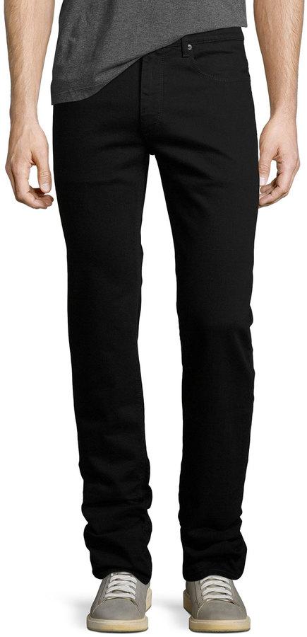 BugatchiBugatchi Five-Pocket Straight-Leg Jeans, Nero